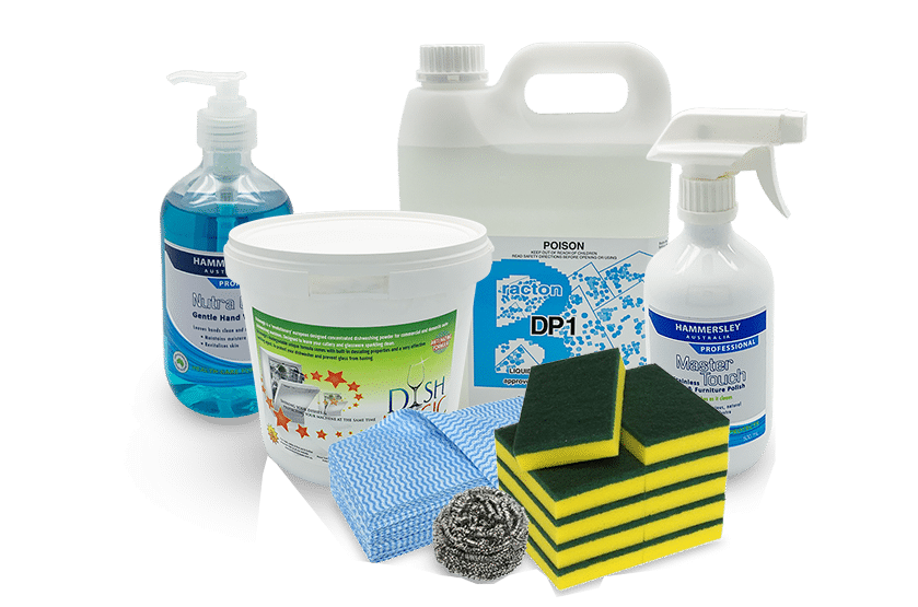 Chemicals, cleaning products